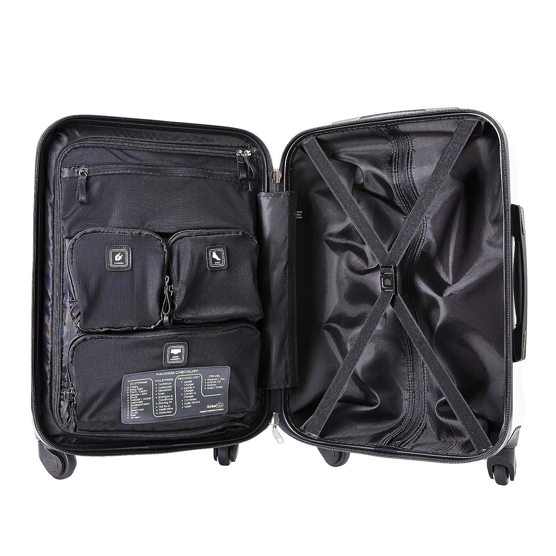 Jet Black 701-709-JBK 29 Upright Jet Black 29 Upright Genius Pack 2 Piece Aerial Hardside Lightweight Luggage Set 21 Carry On