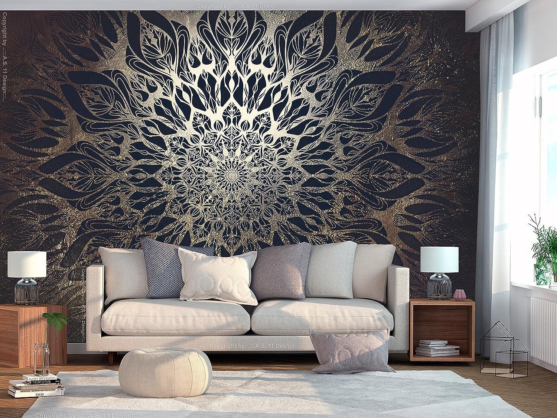 murando Papier peint intiss/é Mandala 300x210 cm D/écoration Murale XXL Poster Tableaux Muraux Tapisserie Photo Trompe loeil Ornament Orient Zen f-A-0659-a-d