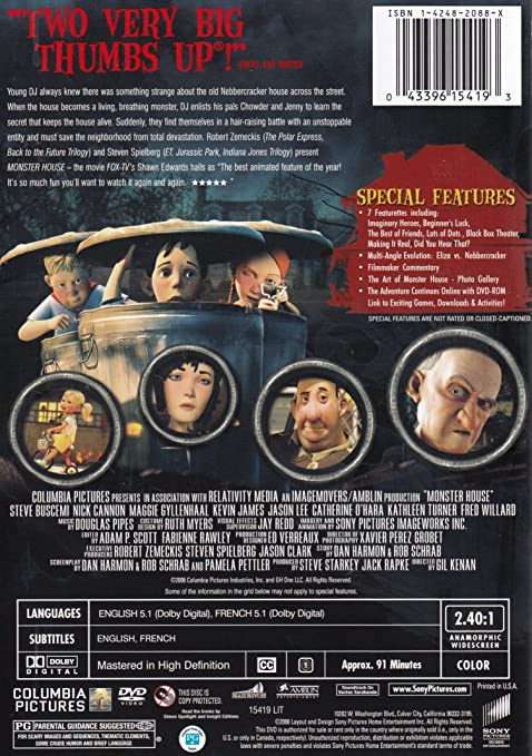 Amazon Com Monster House Widescreen Edition Steve Buscemi Nick Cannon Maggie Gyllenhaal Kevin James Jason Lee Gil Kenan Steve Starkey Jack Rapke Columbia Pictures Industries Inc Monster House Inc Movies Tv