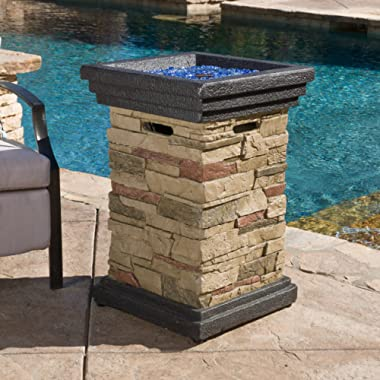 Great Deal Furniture Troy Outdoor 19  Liquid Propane Fire Column