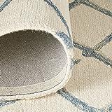 Stone & Beam Tassled Criss-Cross Wool Area