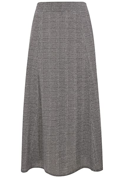 2fbe1f54c11 Yours Clothing Women s Plus Size Checked Maxi Skirt Size 16 Grey ...