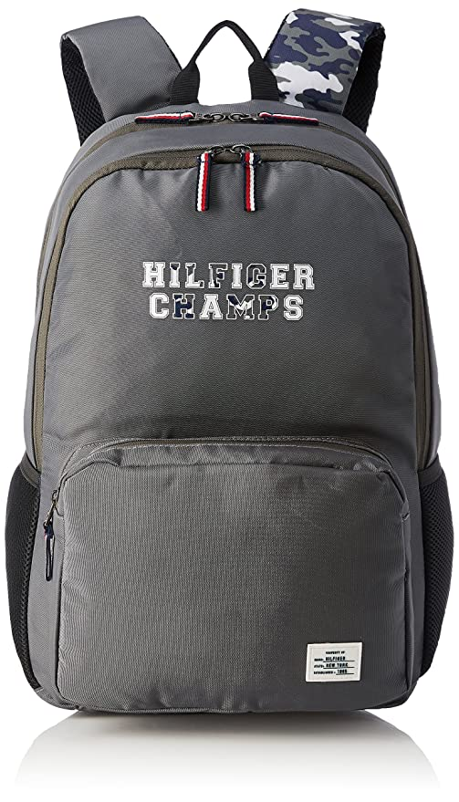 0f3de858 Tommy Hilfiger Grey Casual Backpack (TH/BTSR07/TETO): Amazon.in: Bags,  Wallets & Luggage