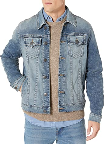 New Ex Lee Mens Denim Jacket Classic Authentic Vintage Style Trucker Jean Coat
