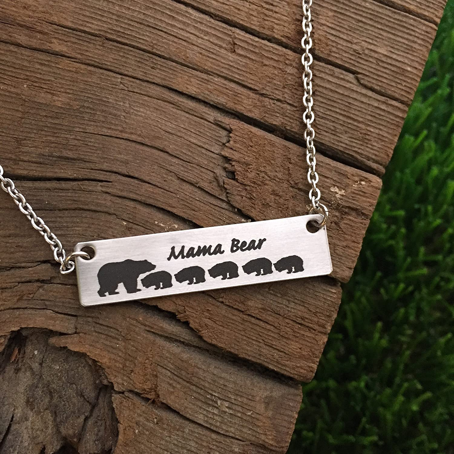 gold white bear mama golden enclosed store product the necklace