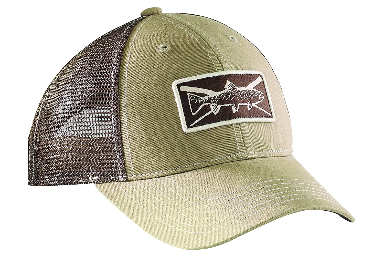 Flying Fisherman H1750 Trout Trucker Hat Khaki/Chocolate