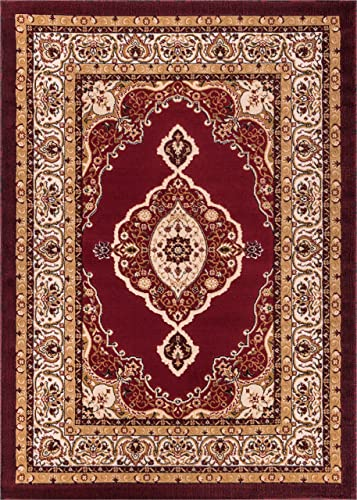 Well Woven Molly Laurent Traditional Area Rug, 9 3 x 12 6 , Red