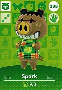 Nintendo Animal Crossing Happy Home Designer Amiibo Card Spork 235/300 USA Version