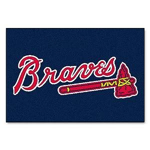 FANMATS MLB Atlanta Braves Nylon Face Starter Rug