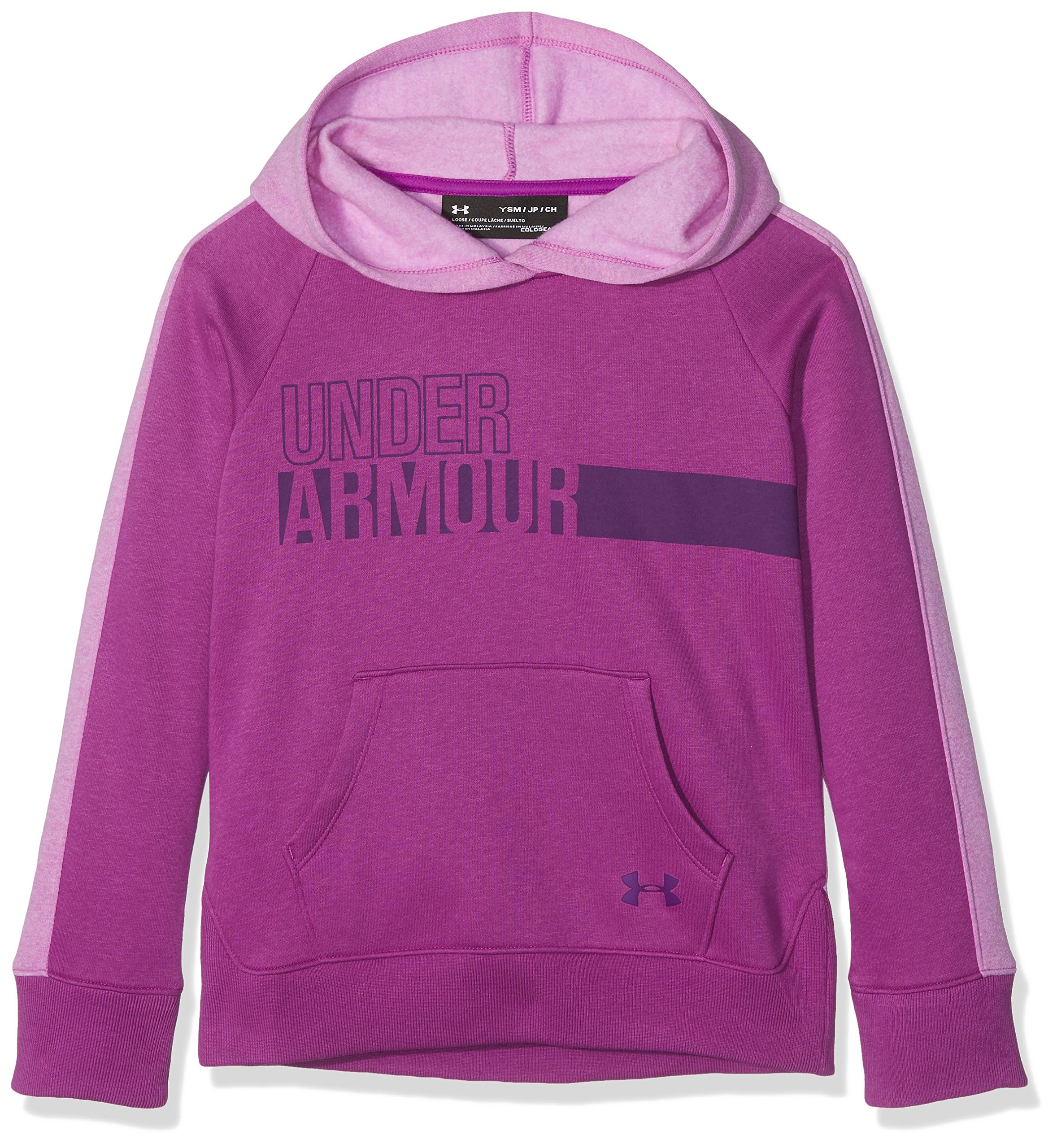 Under Armour Girls' Favorite Fleece Hoodie,Purple Rave (959)/Indulge, Youth Small