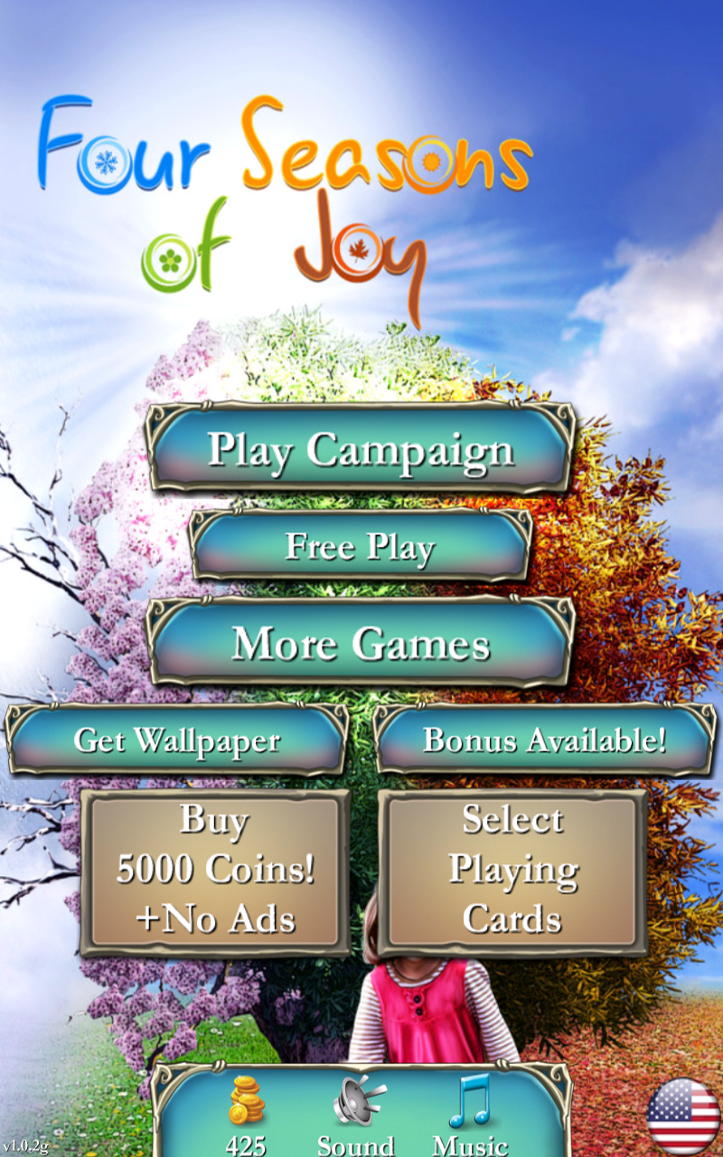 how to play four seasons solitaire