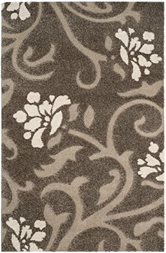 Safavieh Florida Shag Collection SG464-7913 Smoke and Beige Area Rug 6 x 9
