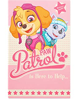 American Greetings Paw Patrol Birthday Card For Girl With Stickers