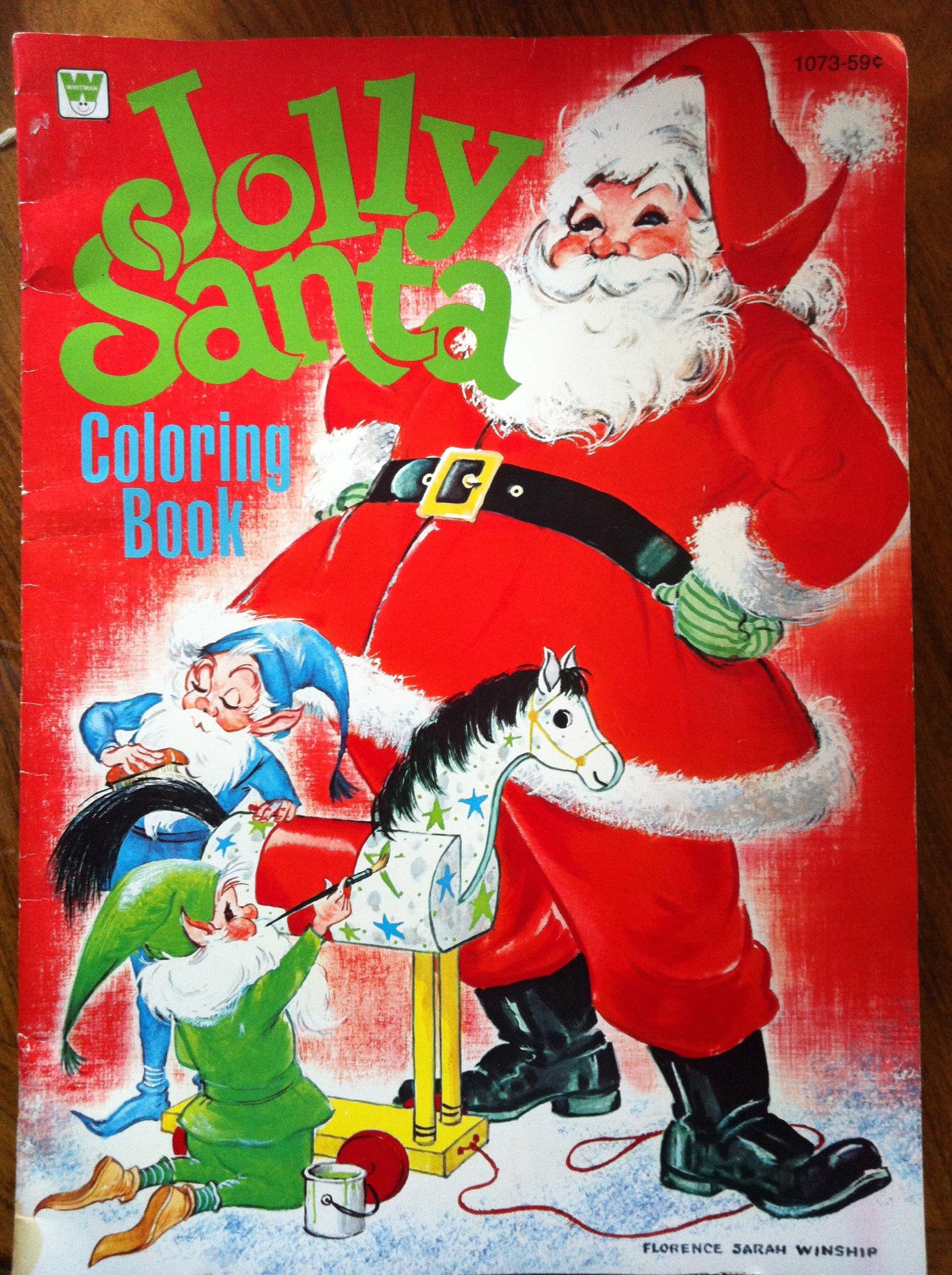 Jolly Santa Coloring Book (A Whitman Book - 1073): A Whitman Book ...