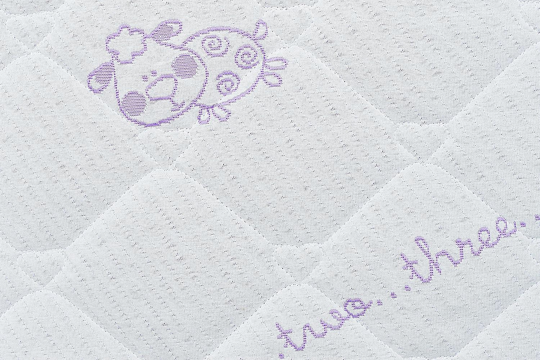 Zweiseitige Kinderbettmatratze Kinderbett Kokos Matte Latexfrei 120 x 60 x 10 cm Kindermatratze Schaum Premium Nature Coco Rei/ßverschluss Babymatratze