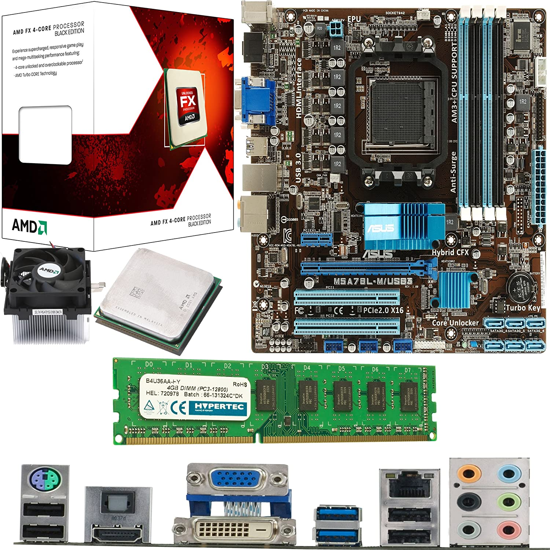 Amd Vishera Fx 4300 Quad Core 3 8ghz Asus M5a78l M Usb3 Motherboard 4gb 1600mhz Ddr3 Ram Bundle Amazon Co Uk Computers Accessories