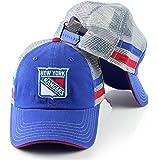 New York Rangers NHL Foundry Grey Soft Mesh Back Adjustable Snapback Hat