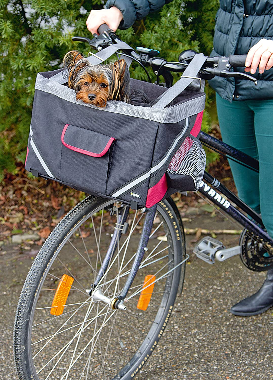Animalerie Kerbl Panier de Vélo Transport pour Chiens Vacation 38 x 25 x 25 cm Noir 80595 Chiens