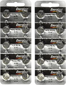 Energizer A76 LR44 1.5V Watch / Electronic Button Cell Battery (20 Pack)