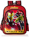Avengers Inifinity War Iron Man Blue School Bag for Children of Age Group 6 - 8 years| Size 16 inch