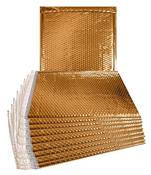 Amazon.com: Paquete de 10 bububujas doradas 15 x 17. Sobres ...