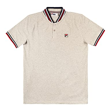 b7c73c90d877 Fila Vintage Men's Skipper Baseball Collar Polo Shirt, Blue: Amazon.co.uk:  Clothing