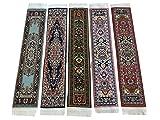 Set of 5 Beautiful Rug Bookmarks Woven Carpet Book