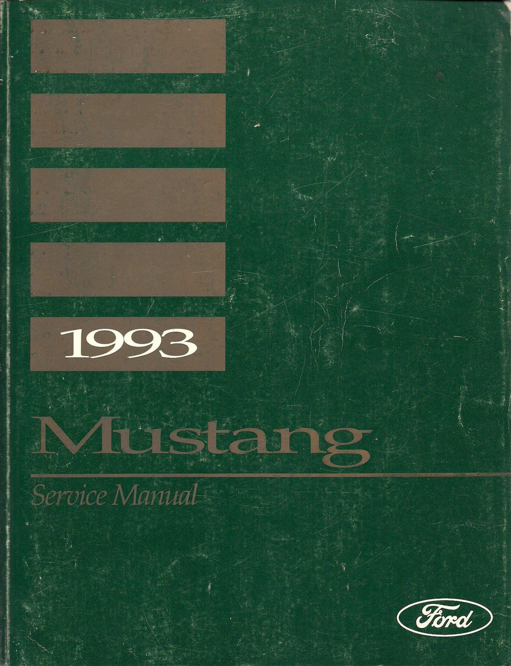 Ford Mustang Gt Cobra Service Shop Repair Manual Paperback