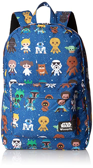 d3a114975fce Amazon.com  Loungefly Star Wars Baby Character Aop Print Back pack ...