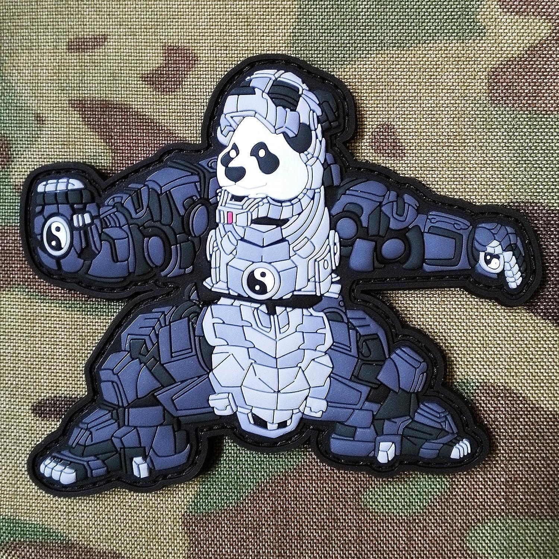 TACOPSGEAR Iron Panda Roboter Comic MECH Man Patch