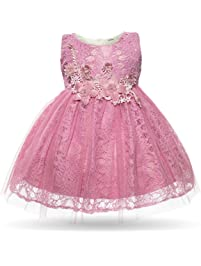 CIELARKO Baby Girl Dress Infant Flower Lace Wedding Party Dresses For 0 24  Months