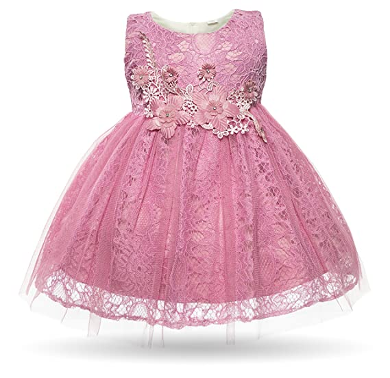 df49d18ff Cielarko Baby Girl Dress Infant Flower Lace Wedding Party Dresses ...