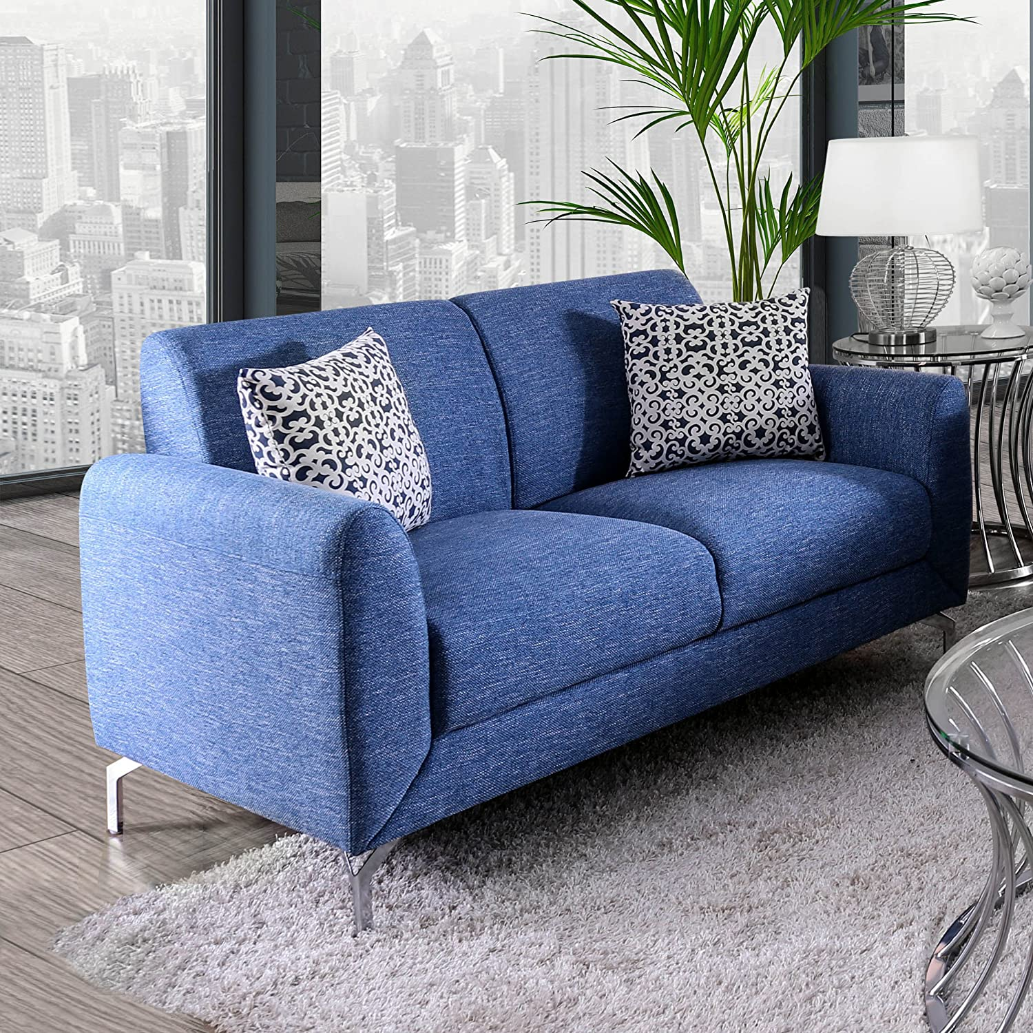 Amazon.com: HOMES: Inside + Out IDF-6088-LV Beasley Loveseat ...