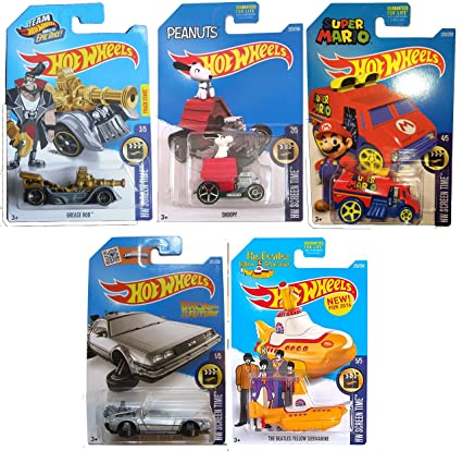 Amazon Com Hot Wheels 2016 Hw Screen Time 5 Car Set Back To The