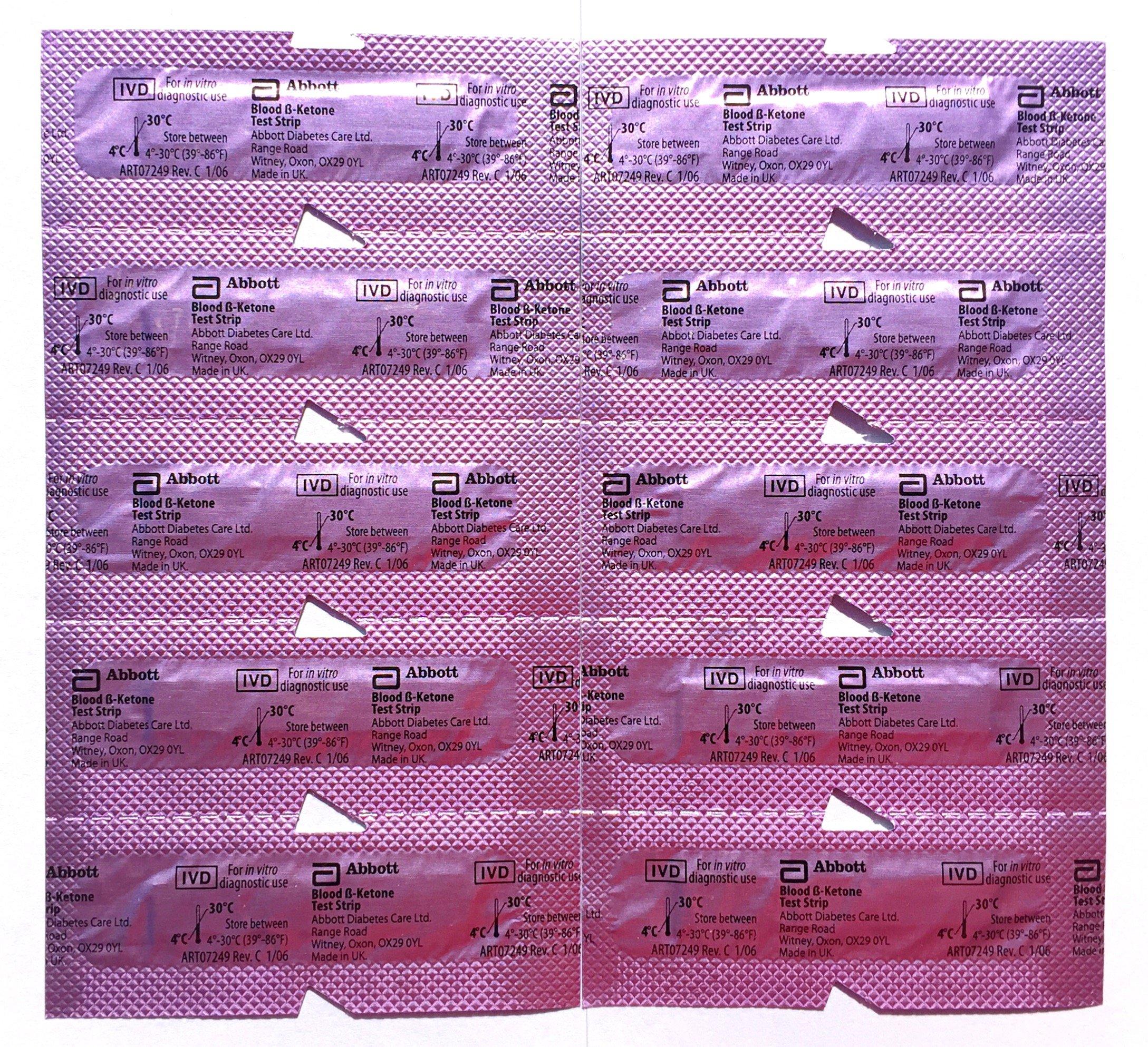 Abbott Precision Xtra Ketone Test Strips - 10 Ea Strips Unboxed