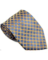 NEW EXT Collectino 100% Silk Necktie Classic Men's Checks Tie