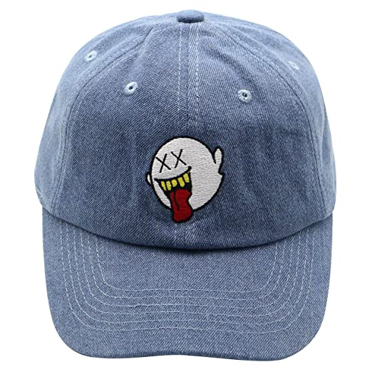 882b2cfd Image Unavailable. Image not available for. Color: zhidan wei Distressed  Boo Dad Hat Embroidered Baseball Cap Cotton Hat Ponytail for Men and Women