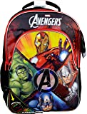 "Marvel The Avenger's Flashing Light-Up 16"" Kids Backpack, Red and Black"