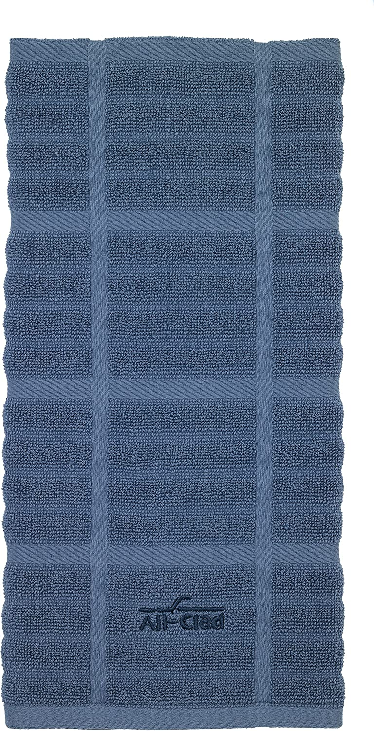 Tomato on Cobalt One ALL-CLAD Kitchen Towel 100/% Cotton Oversized 17in x 30in