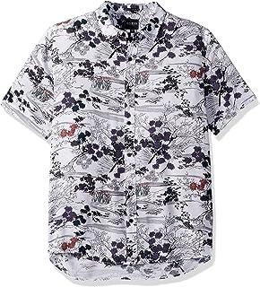 Guess Mens Short Sleeve Sakura Print Shirt