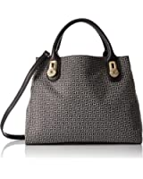 Tommy Hilfiger Elaine Jacquard Shopper Convertible Top Handle Bag
