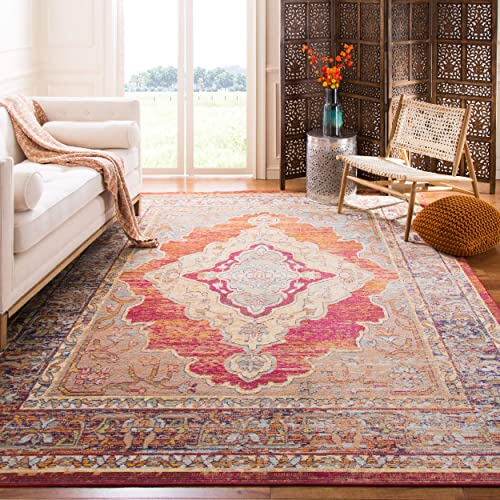 Reviewed: Safavieh Crystal Collection CRS500A Boho Chic Oriental Medallion Distressed Non-Shedding Stain Resistant Living Room Bedroom Area Rug