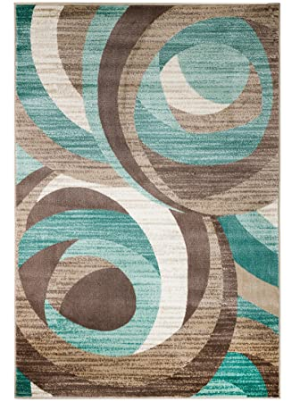 turquoise area rug 8x10 5x8 new summit elite swirl modern abstract many sizes available 6x9