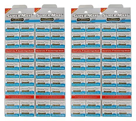 Supermax Double Edge Razor Blade - Pack of 400 Blades Razor Blades at amazon
