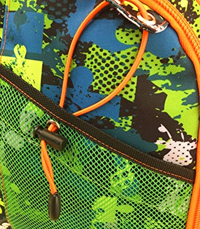 Spirit Puzzle Maleta, 48 cm, 26 litros, Verde/Naranja: Amazon.es: Equipaje