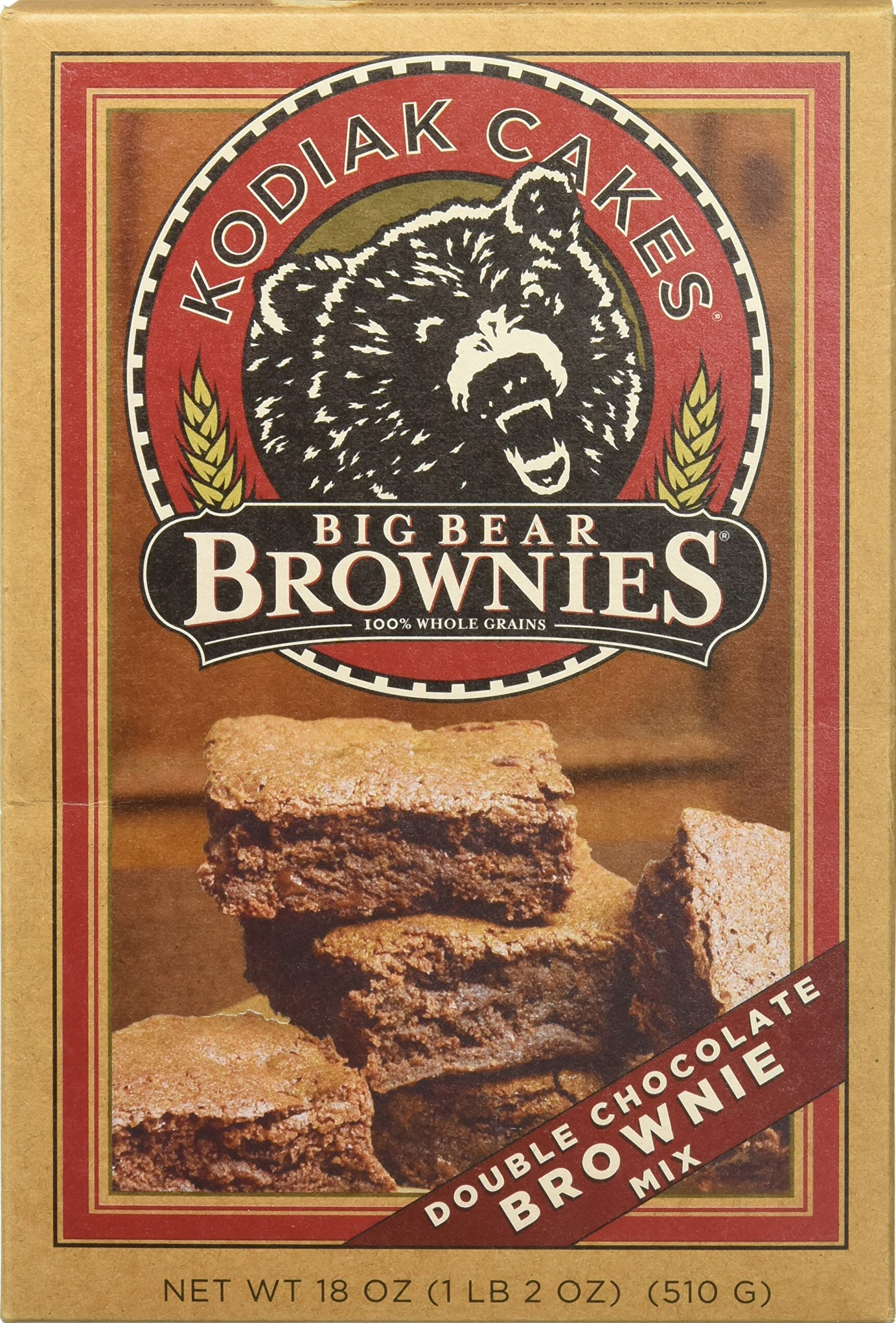 Kodiak Cakes Big Bear Brownie Mix, Double Chocolate Chunk, 18-Ounce Box