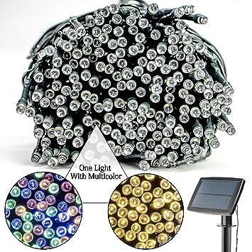 LED solar luces de cadena, tabla grande de carga , batería de litio, 100 granos de la lámpara, de 39 pulgadas, ocho modos de operación, cuatro ...
