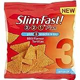 SlimFast Snack Bag BBQ Tortillas 22 g - Pack of 12