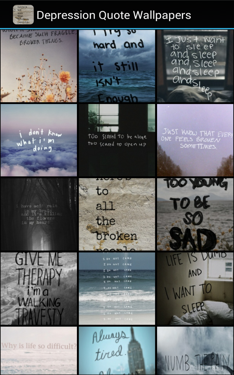 Amazon Com Depression Quote Wallpapers Appstore For Android