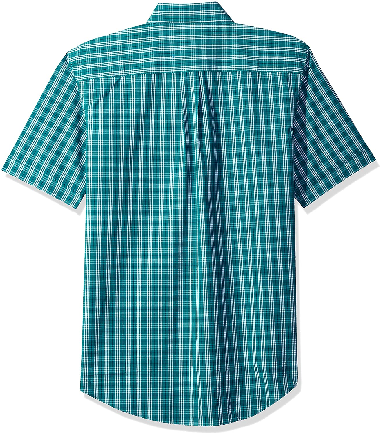 Arrow Mens Big and Tall Hamilton Poplins Short Sleeve Button Down Plaid Shirt